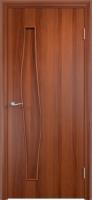 Дверь ламинированная Волна глухая, итальянский орех (темная)