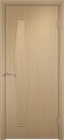 Дверь ламинированная Волна глухая, беленый дуб