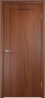 Дверь пвх  Водопад межкомнатная глухая, итальянский орех (темная)