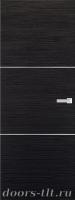 Дверь Экошпон ЭЛИТ Q 1 межкомнатная глухая с молдингом, венге