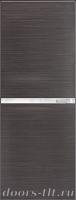 Дверь Экошпон ЭЛИТ Q 2 межкомнатная глухая со стеклом триплекс белое матовое, серый