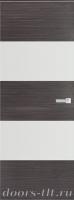 Дверь Экошпон ЭЛИТ Q 3 межкомнатная глухая со стеклом триплекс белое матовое, серый