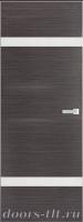Дверь Экошпон ЭЛИТ Q 4 межкомнатная глухая со стеклом триплекс белое матовое, серый