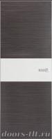 Дверь Экошпон ЭЛИТ Q 5 межкомнатная глухая со стеклом триплекс белое матовое, серый