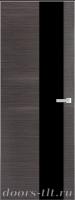 Дверь Экошпон ЭЛИТ Q 8 межкомнатная глухая со стеклом триплекс черное, серый