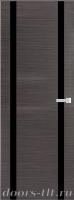 Дверь Экошпон ЭЛИТ Q 9 межкомнатная глухая со стеклом триплекс, серый