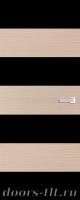 Дверь Экошпон ЭЛИТ Q10  межкомнатная глухая со стеклом триплекс черное, беленый дуб