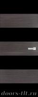 Дверь Экошпон ЭЛИТ Q10  межкомнатная глухая со стеклом триплекс черное, серый