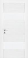 Дверь Экошпон G 3 межкомнатная глухая со стеклом триплекс белое матовое, беленый дуб