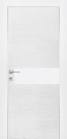 Дверь Экошпон G 5 межкомнатная глухая со стеклом триплекс белое матовое, беленый дуб