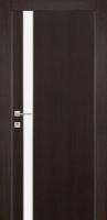 Дверь Экошпон G 7 межкомнатная глухая со стеклом триплекс белое матовое, венге