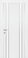 Дверь Экошпон G 9 межкомнатная глухая со стеклом триплекс белое матовое, беленый дуб