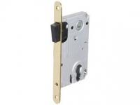 Корпус замка под ключевой цилиндр с магнитной защелкой МS 85x50 SB цвет золото матовое для межкомнатной двери