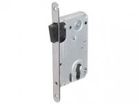 Корпус замка под ключевой цилиндр с магнитной защелкой МS 85x50 SN цвет хром матовый для межкомнатной двери