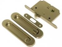 Ручка для раздвижных дверей CHL45C цвет матовое золото ключ/фиксатор для межкомнатной двери