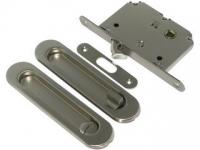Ручка для раздвижных дверей CHL45L цвет матовый хром ключ/фиксатор для межкомнатной двери