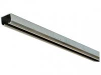 Направляющии для раздвижных дверей  верхняя направляющая 3м никель для межкомнатной двери