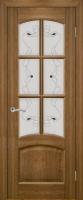 Дверь Агат III шпонированная межкомнатная со стеклом, дуб натуральный