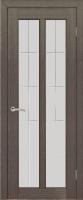 Дверь Крит шпонированная межкомнатная со стеклом, черный абрикос