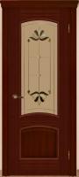 Дверь Агат II шпонированная межкомнатная со стеклом, сапель