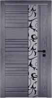 Дверь Модель 033 шпонированная межкомнатная с зеркалом, графит