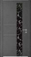 Дверь Модель 041 шпонированная межкомнатная с зеркалом, графит