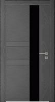Дверь Модель 041 шпонированная межкомнатная со стеклом, графит