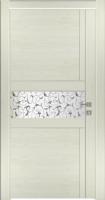 Дверь Модель 043 шпонированная межкомнатная с зеркалом, жемчуг