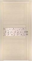 Дверь Модель 043 шпонированная межкомнатная с зеркалом, слоновая кость