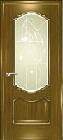 Дверь Маркиза шпонированная межкомнатная со стеклом 1, дуб