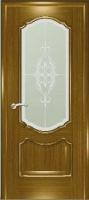 Дверь Маркиза шпонированная межкомнатная со стеклом 2, дуб