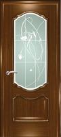 Дверь Маркиза шпонированная межкомнатная со стеклом 1, орех