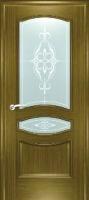 Дверь Наполеон-багет шпонированная межкомнатная со стеклом, дуб