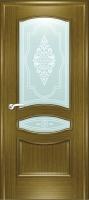 Дверь Наполеон-багет шпонированная межкомнатная со стеклом 2, дуб