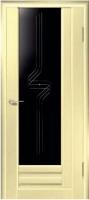 Дверь Галла шпонированная межкомнатная со стеклом 3, беленый дуб