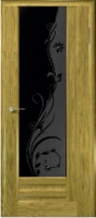 Дверь Галла шпонированная межкомнатная со стеклом 1, золотистый дуб