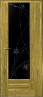 Дверь Галла шпонированная межкомнатная со стеклом 2, золотистый дуб