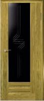 Дверь Галла шпонированная межкомнатная со стеклом 3, золотистый дуб