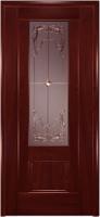 Дверь Модель 01 шпонированная межкомнатная со стеклом 3, сапели