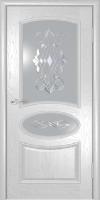 Дверь Оливия  шпонированная межкомнатная со стеклом, жемчуг