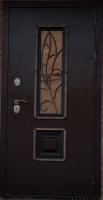 Входная металлическая дверь Аякс Ковка орех