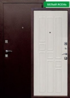Входная металлическая дверь Гарда 8 мм, беленый дуб